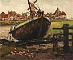 Reinier Sybrand Bakels (1873-1956) Vissersboot in