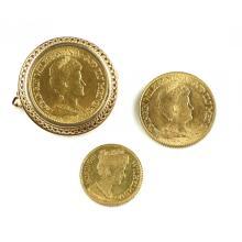 Drie gouden munten