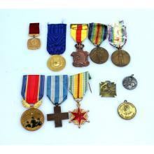 Een kavel diverse medailles.