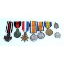 Diverse medailles (WOI).