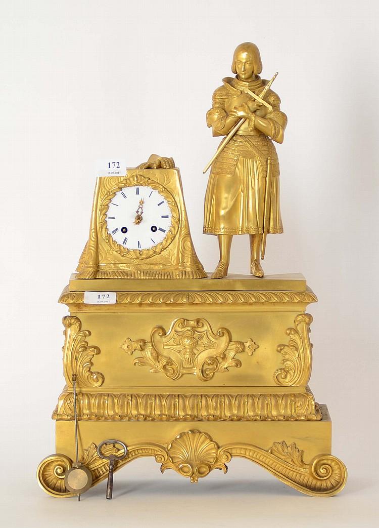 horloge de chemin e du xix me si cle en bronze dor jeann. Black Bedroom Furniture Sets. Home Design Ideas