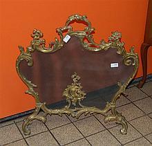 Pare-feu Napoléon III en bronze doré de style Régence