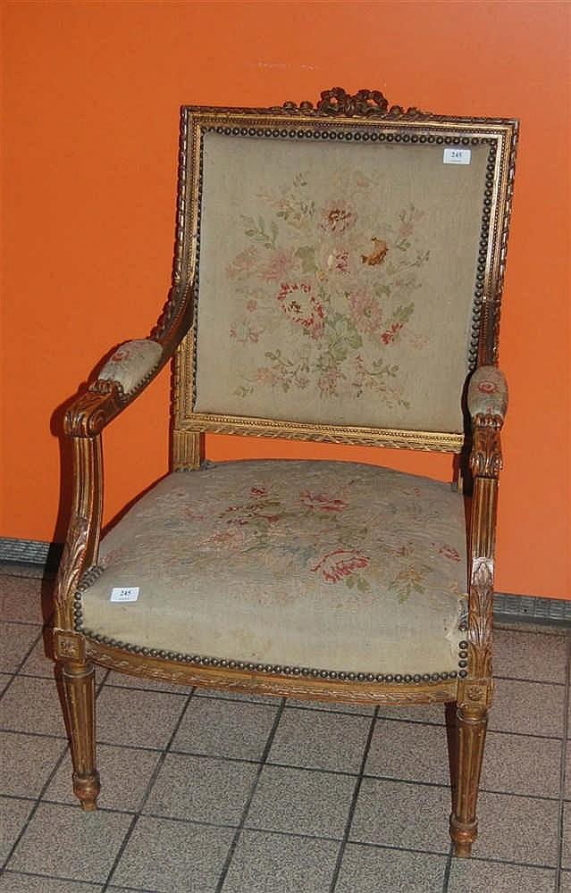 fauteuil sculpt napol on iii de style louis xvi. Black Bedroom Furniture Sets. Home Design Ideas