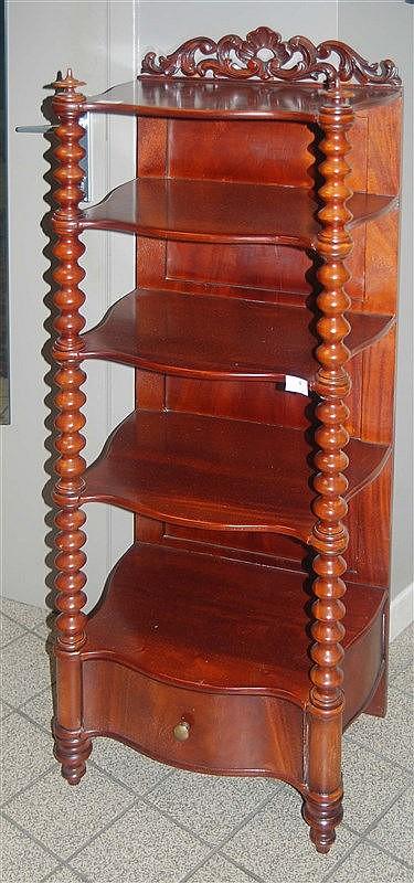 petite tag re napol on iii en acajou galb e colonnes. Black Bedroom Furniture Sets. Home Design Ideas