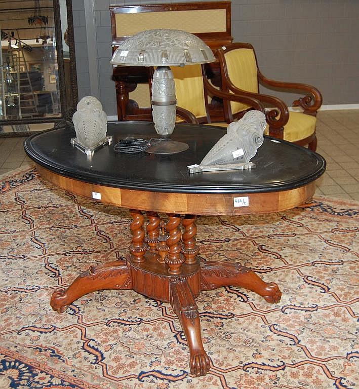 gu ridon du xix me si cle pieds griffes en bois poli la. Black Bedroom Furniture Sets. Home Design Ideas