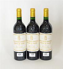 Château Pichon Longueville 1992 - Mise château - Trois bouteilles de vin Pa