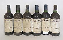 Lot de vins divers : six bouteilles Mouton Cadet 1992. Bordeaux. MN. 1 bout