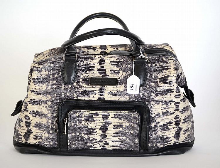 Grand sac a main longchamp : Longchamp grand sac port? main en cuir noir et imitation rep