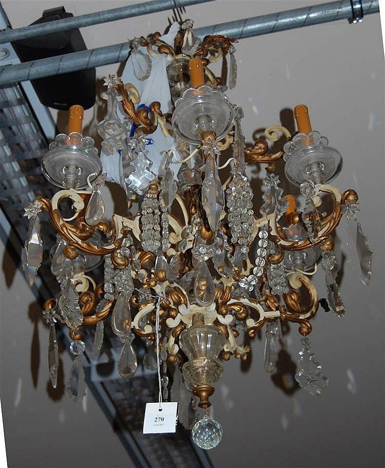 lustre en fer forg 233 patin 233 et t 244 le dor 233 e 224 six bras de lumi