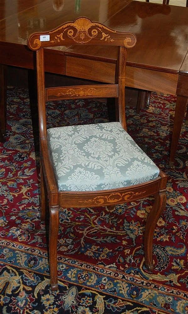 s rie de quatre chaises charles x en palissandre et marquete. Black Bedroom Furniture Sets. Home Design Ideas