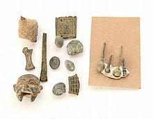 Divers éléments de fouilles romaines en bronze