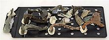 Pièces de fouille : lot de broches romaines en bronze