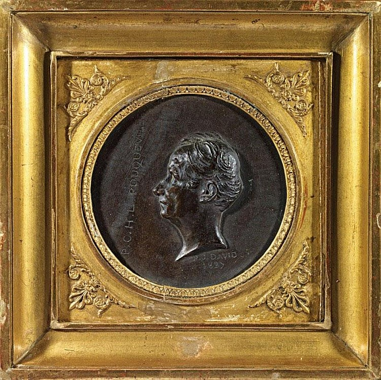 P. J. David d' Angers (1788-1856)  Portrait of François Pouqueville