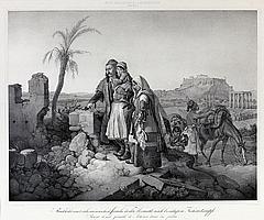 Peter von Hess (1792-1871) Rückkehr einer atheniensischen Familie in ihre Heimat nach beendigtem Freiheittskampfe. Retour d'une famille d'Athénes dans sa patrie