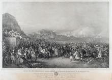 Peter Heinrich VON HESS (1792-1871) , L' Entrée de Sa Majesté le Roi Othon à Nauplie
