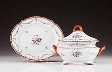 A tureen with cover and dish