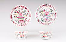 A pair of cups and saucers