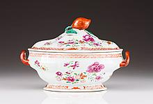 An oval tureen with cover