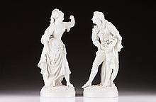 A pair of Neapolitan figures