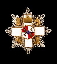 A plaque of the Order of Military Merit, Spain