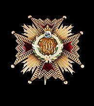 A plaque of the Order of Isabel, la Católica, Spain