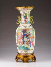 A baluster vase