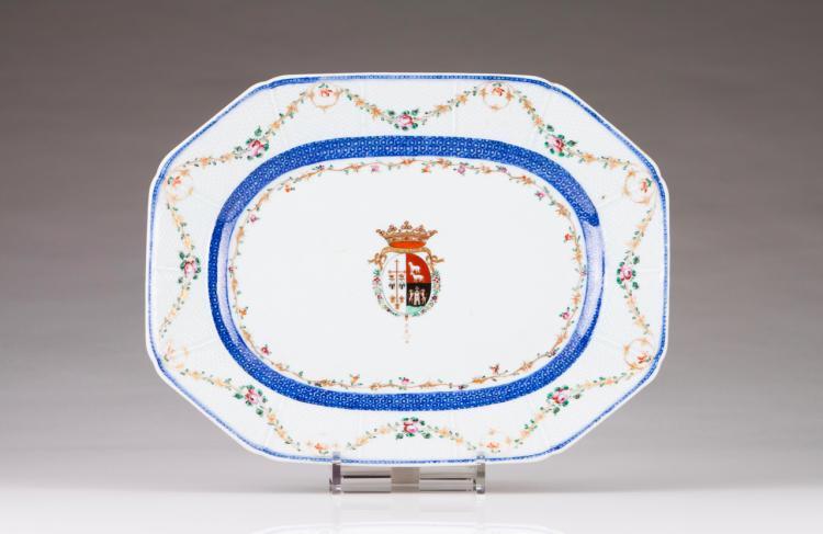 An octagonal dish