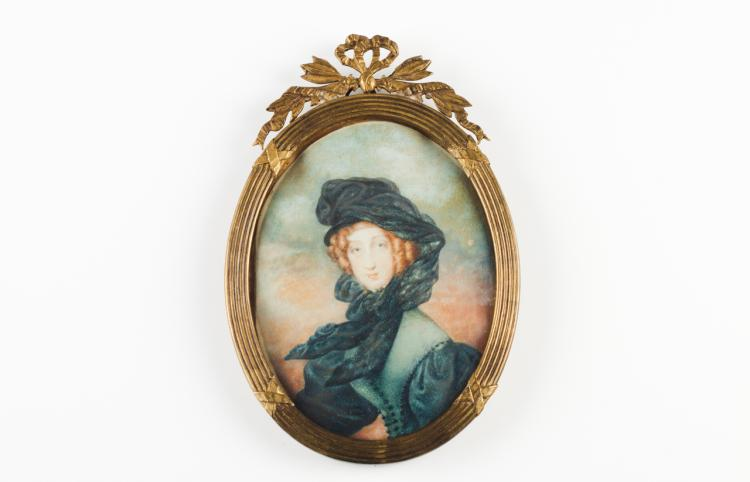 Portrait of HM the Queen of the Belgians Louise Marie d'Orleans
