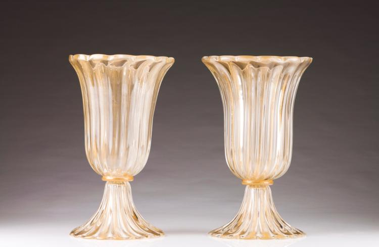 A pair of Art Deco style vases
