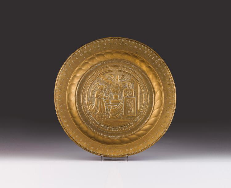 A late 15th, early 16th Nuremberg alms dish
