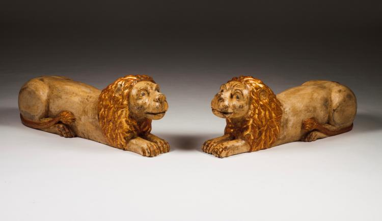 A pair of lions