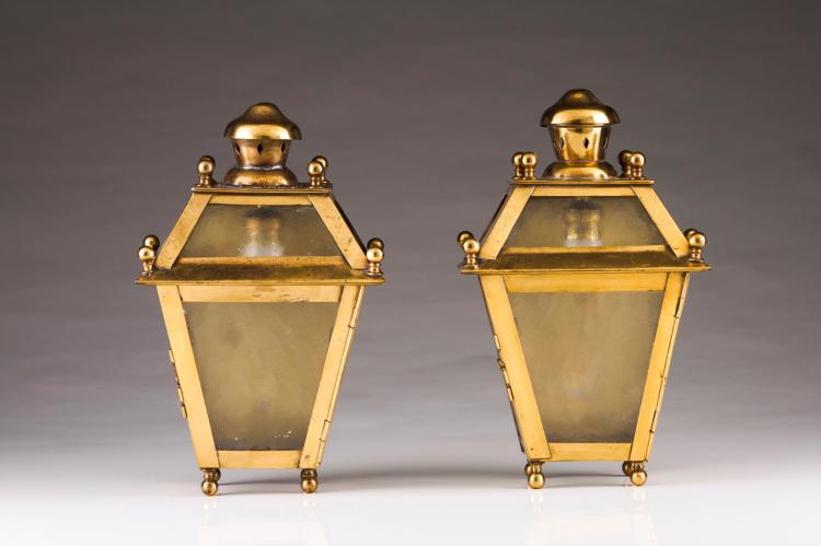A pair of wall lanterns