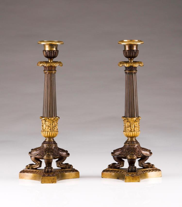 A pair of Louis Phillippe candlesticks