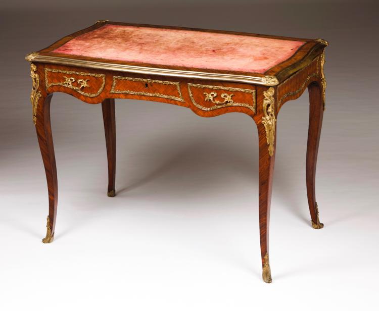 A Louis XV style bureau-plat