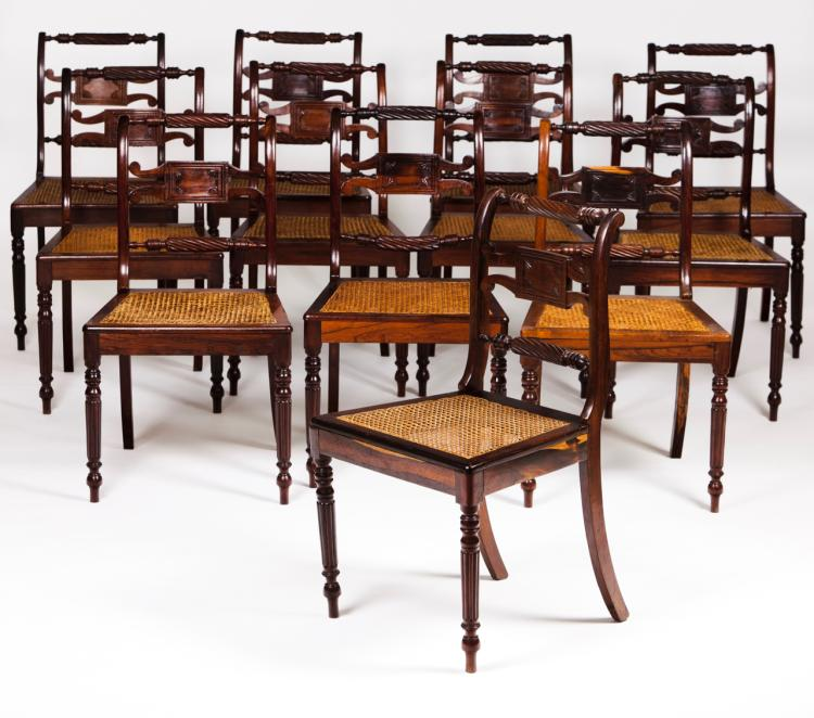 A set of 12 chairs