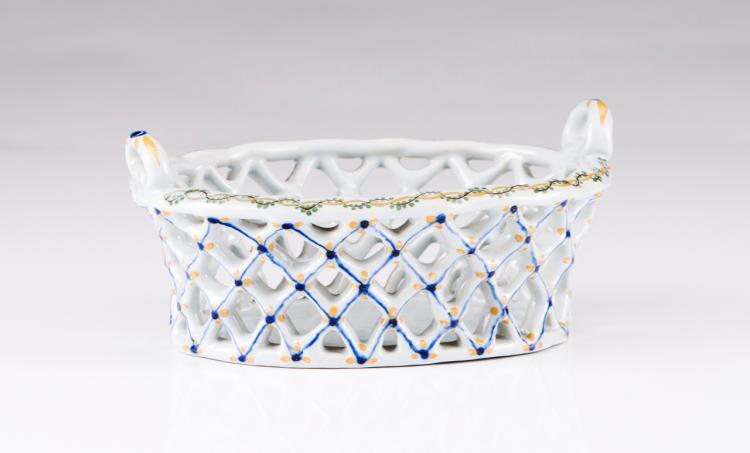 A pierced basket