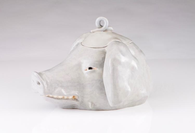 A boar's head tureen with cover