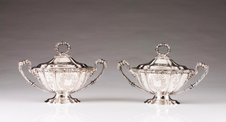 A pair of tureens