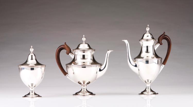 A coffee and tea set