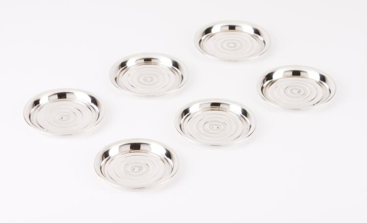 Six Art Deco ash trays