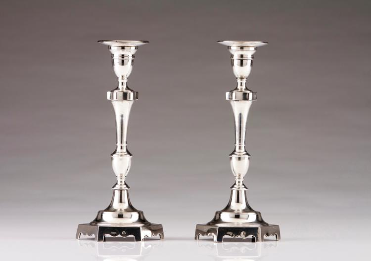 A pair of D.Maria (1777-1816) candlesticks