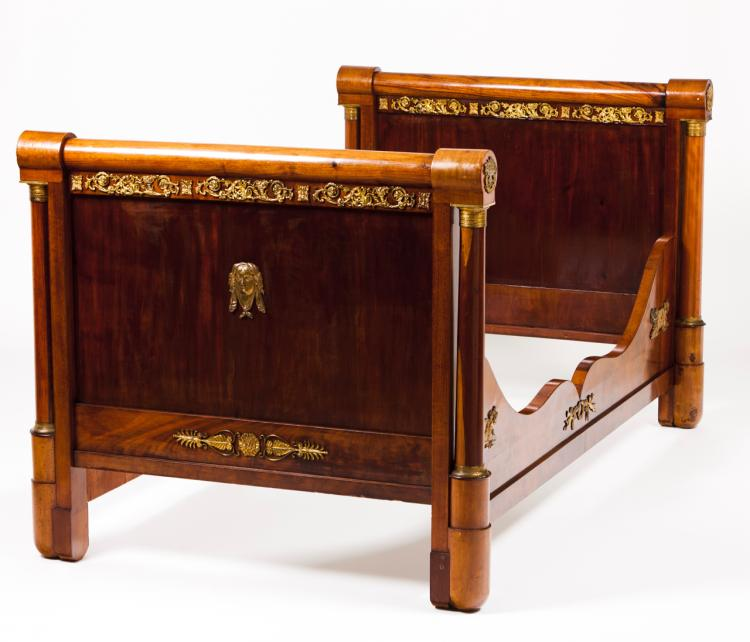 A pair of empire style beds for Empire style bed