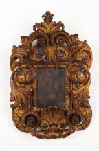 A small Rocaille wall mirror