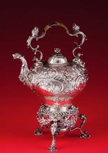 A Important George III kettle with stand