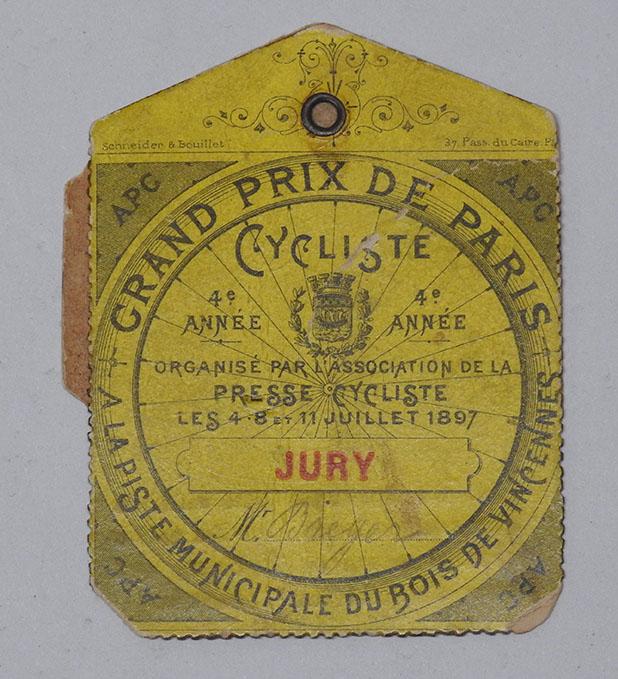 1897 grand prix de paris badge du jury m breyer carton r. Black Bedroom Furniture Sets. Home Design Ideas