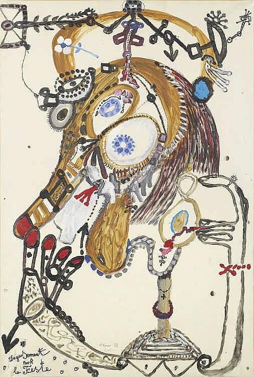 Michel MACREAU   « DEGUISEMENT POUR LA FESTE », 1988
