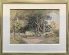 C.W. Taylor (1878-1960) Framed Watercolor Painting