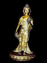 Large Standing Bronze Buddha