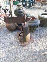 19th. C. cast iron weather vane chimney cowl .