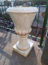 19th. C. marble garden urn.